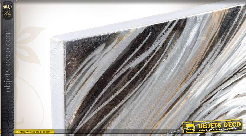 D Coration Murale 2 Plaques Aluminium En Relief Style Abstrait