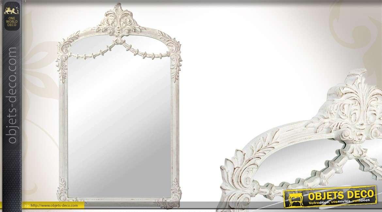 Miroir style ancien vertical dor d cor floral 122 cm for Miroir en longueur