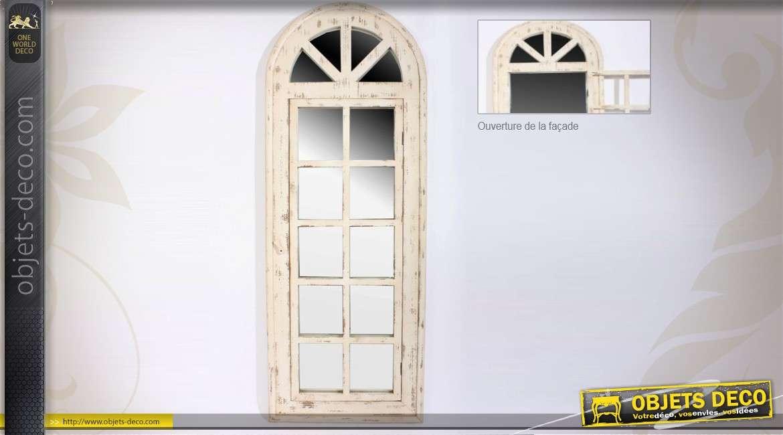Miroir fen tre en arcade de style ancien avec ouverture 134 cm - Miroir style fenetre ...