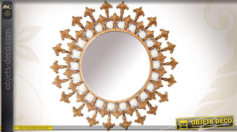 Miroir art d co composition murale cercles ronds patine for Deco avec miroir mural