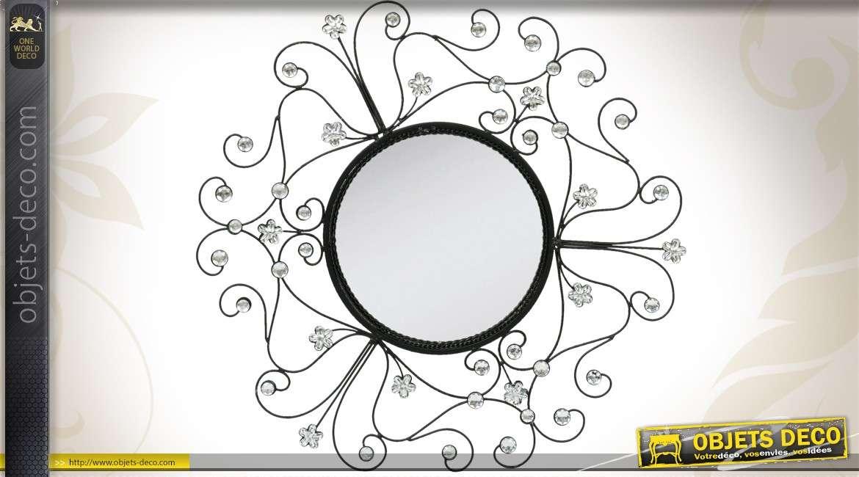 Miroir art d co composition murale cercles ronds patine for Miroir fantaisie design