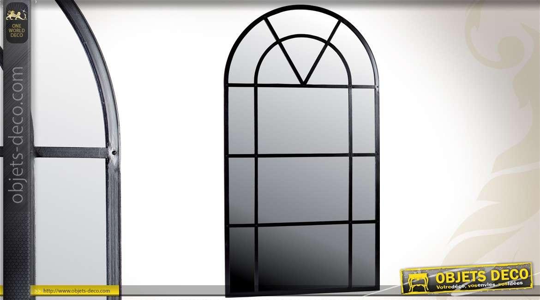 grand miroir fen tre marquise en fer forg 2 m tres