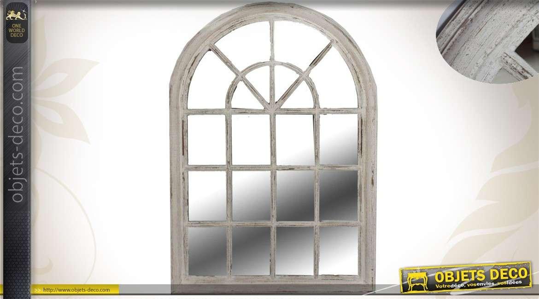 Miroir de style ancien en forme de fen tre en arcade 104 cm - Miroir style fenetre ...
