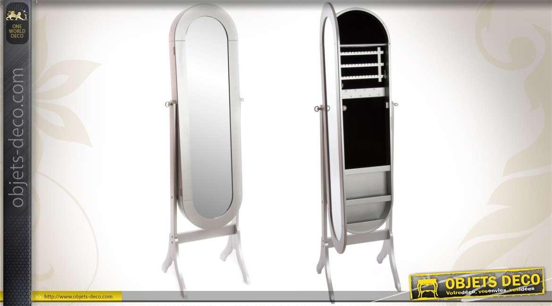 miroir psych armoire bijoux vintage patine argent e 153 cm. Black Bedroom Furniture Sets. Home Design Ideas