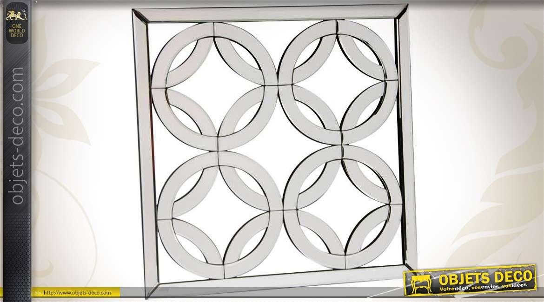 miroir de style v nitien et art d co 60 x 60 cm. Black Bedroom Furniture Sets. Home Design Ideas