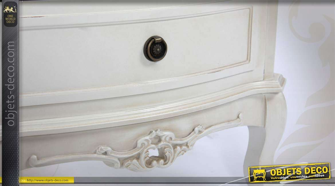 commode blanche antique de style ancien. Black Bedroom Furniture Sets. Home Design Ideas