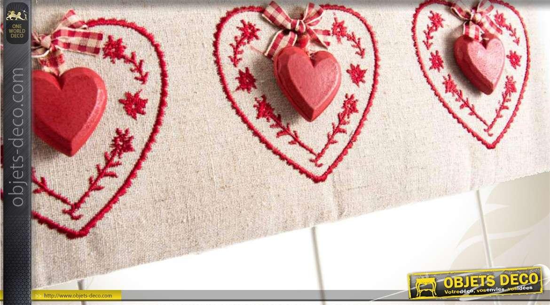 2 porte manteaux en bois et tissu de style romantique 30 cm for Decoration de porte en tissu