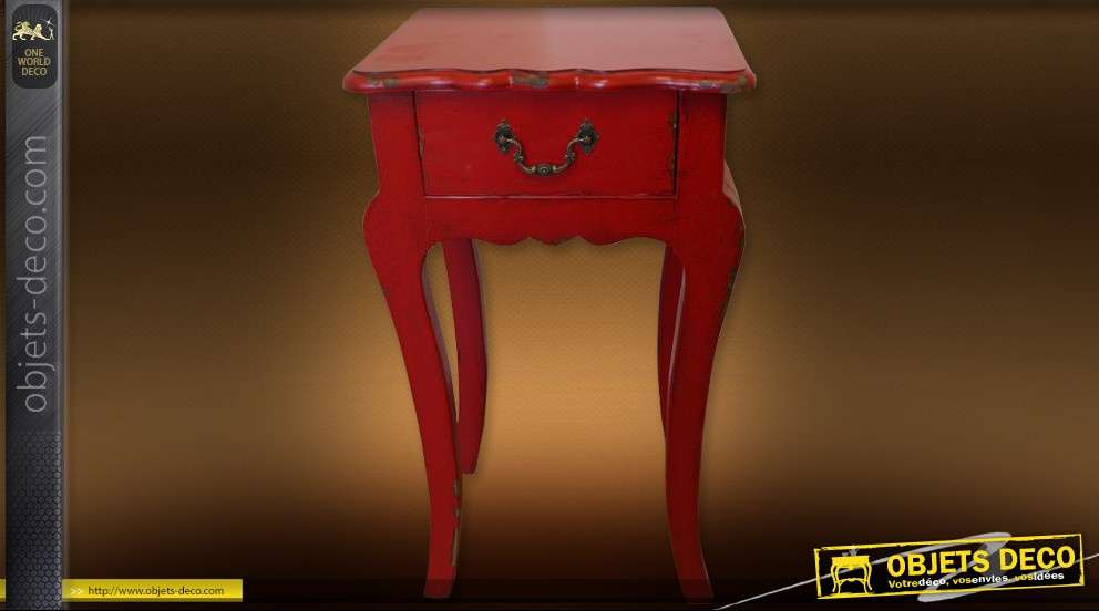 Meuble table sellette rouge