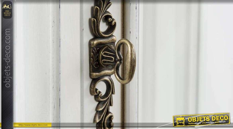 vitrine en bois de style ancien coloris blanc et bois. Black Bedroom Furniture Sets. Home Design Ideas