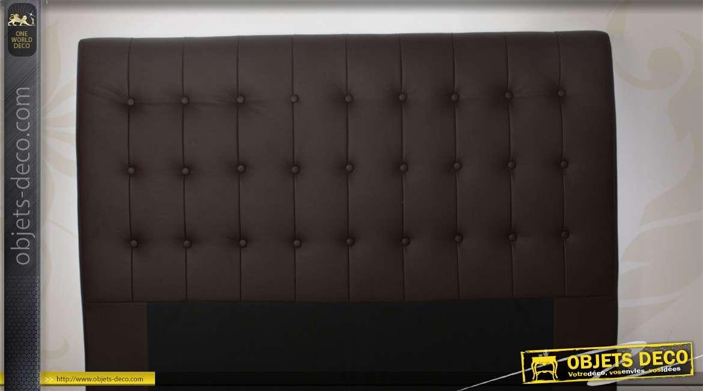 t te de lit capitonn e coloris chocolat. Black Bedroom Furniture Sets. Home Design Ideas