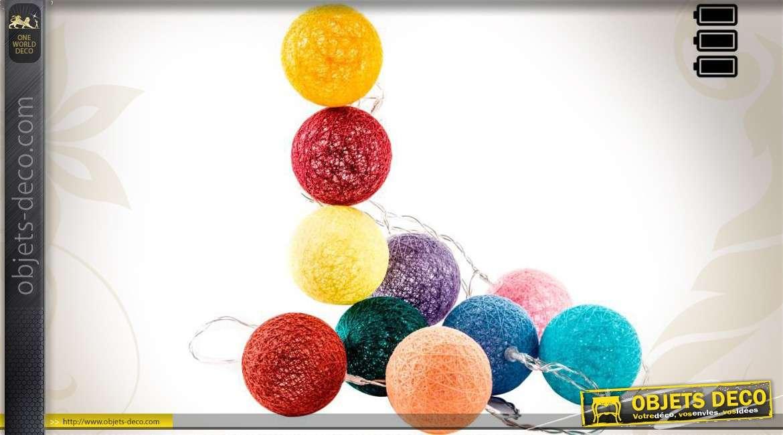boules lumineuses en coton tress multicolores 6 cm 150 cm. Black Bedroom Furniture Sets. Home Design Ideas