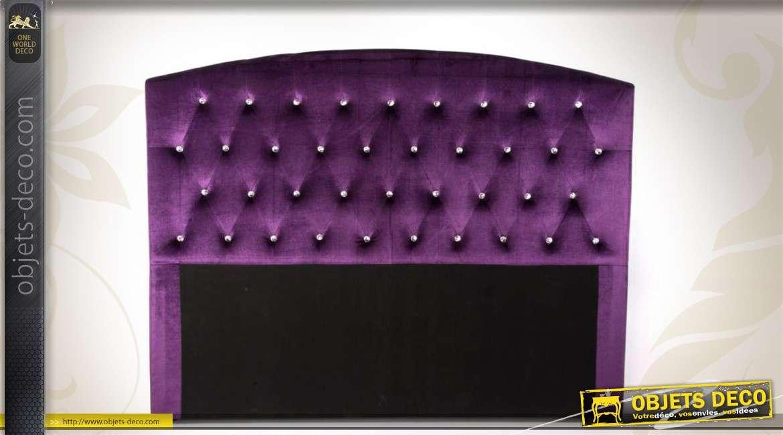 T te de lit capitonn e coloris violet for Objet deco violet