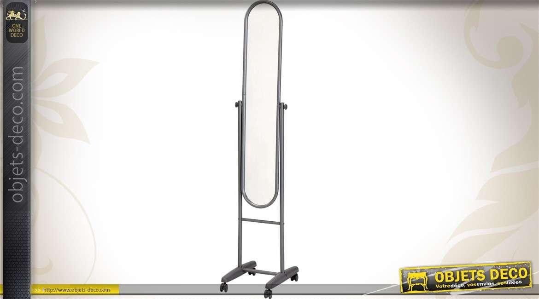 Miroir psych ovale sur pied de style r tro 150 cm for Miroir psyche