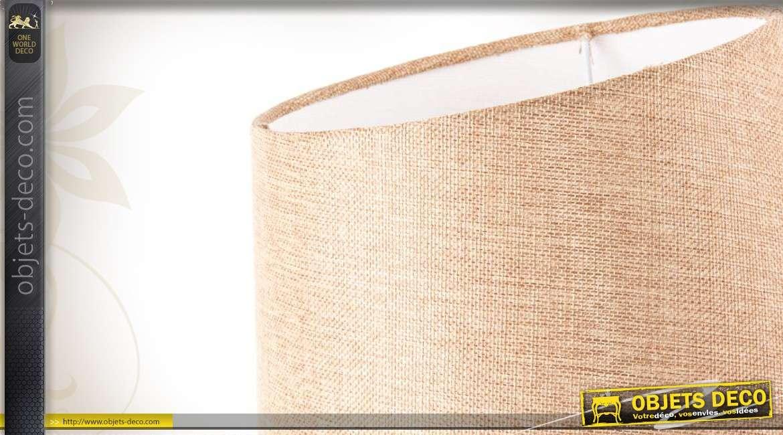 lampe de table abat jour beige et pied m tal ajour dor vieilli. Black Bedroom Furniture Sets. Home Design Ideas