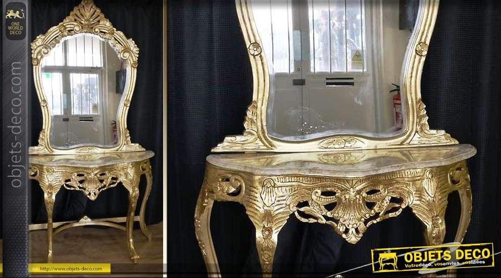 Grande console et miroir romantiques for Miroir et console