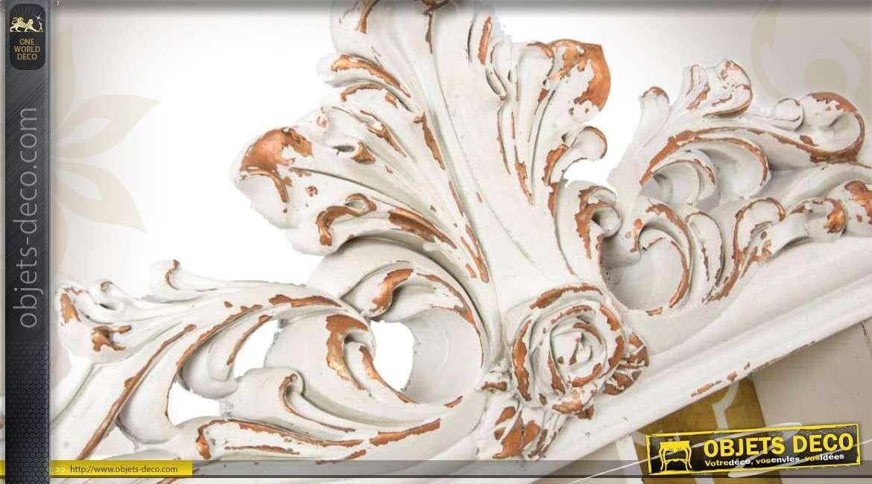 etag re murale de style baroque blanche et cuivr e. Black Bedroom Furniture Sets. Home Design Ideas