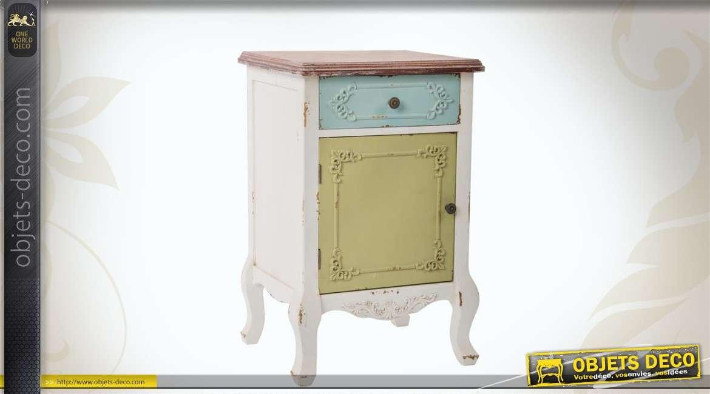 table de chevet color e en bois. Black Bedroom Furniture Sets. Home Design Ideas