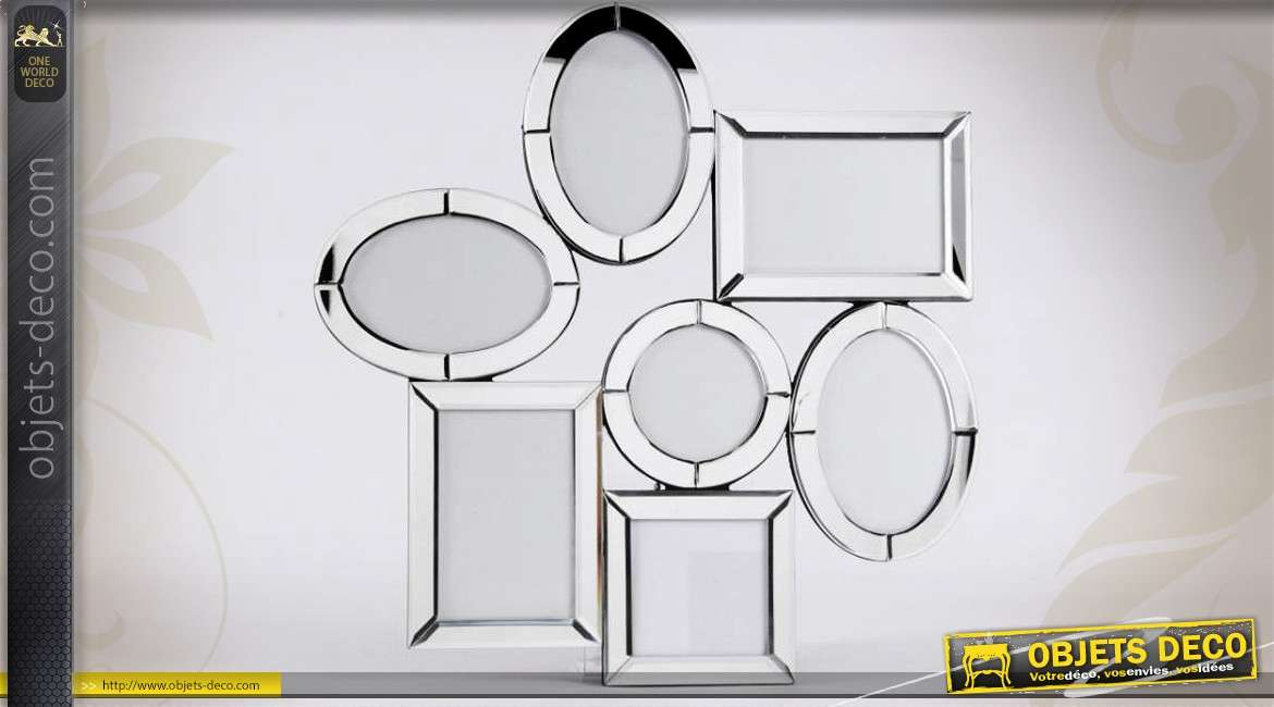 p le m le style v nitien avec cadres en miroirs pour 7 photos. Black Bedroom Furniture Sets. Home Design Ideas