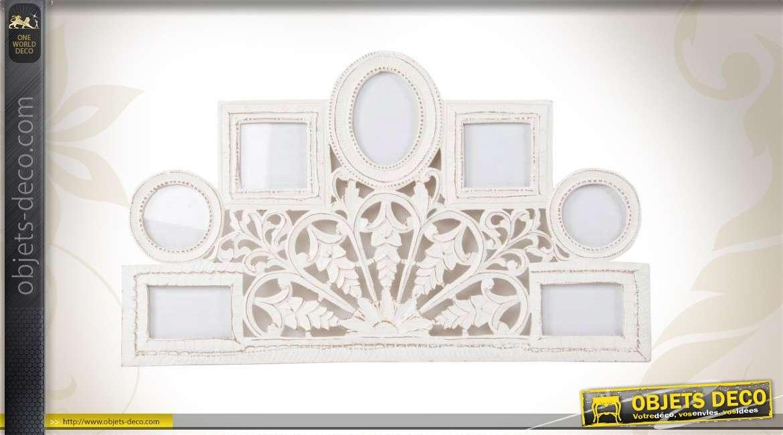 ensemble de cadres photos de style romantique coloris blanc. Black Bedroom Furniture Sets. Home Design Ideas