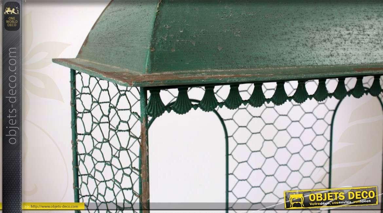 etag re murale m tal forme maisonnette verte et ancienne 75 cm. Black Bedroom Furniture Sets. Home Design Ideas