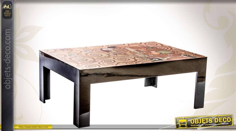 Table basse en bois d co klimt - Table basse deco ...