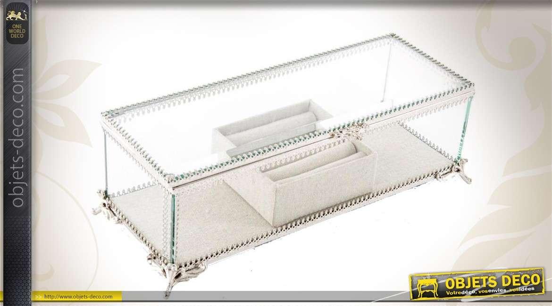 bo te bijoux en verre et en m tal. Black Bedroom Furniture Sets. Home Design Ideas