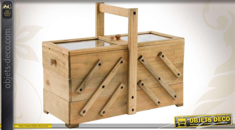 bo te couture en escalier de style r tro finition bois ancien. Black Bedroom Furniture Sets. Home Design Ideas