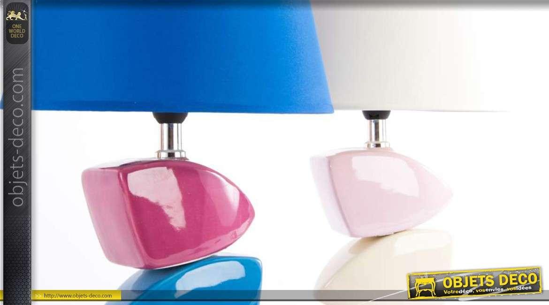 S rie de 2 lampes de chevet en c ramique style moderne 35 cm - Lampe de chevet moderne ...