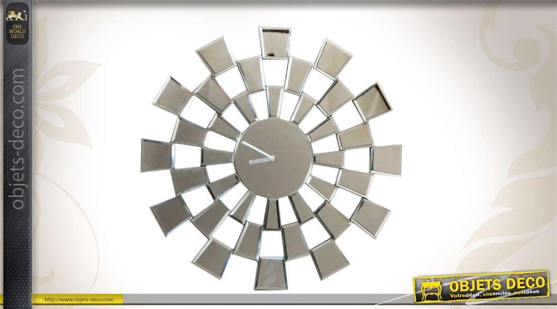 horloge murale design en miroir motifs g om triques 50 cm. Black Bedroom Furniture Sets. Home Design Ideas