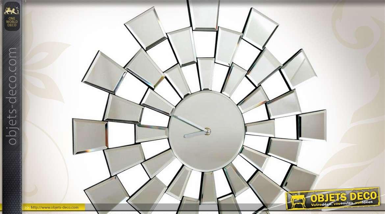 Horloge Murale Design En Miroir Motifs G Om Triques 50 Cm