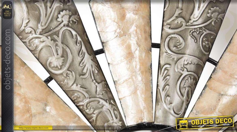 Miroir De D Coration Murale En M Tal Avec Motifs Floraux