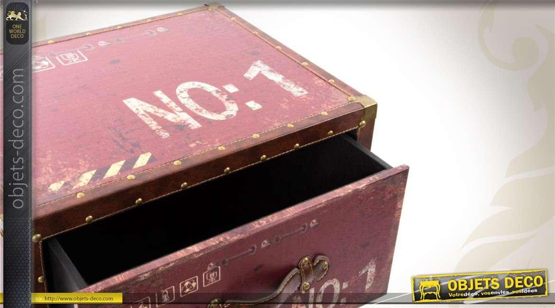 Chiffonnier 3 tiroirs en bois de style industriel for Chiffonnier style industriel