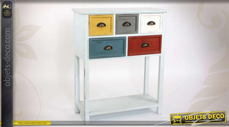 console blanche 3 tiroirs style meuble de charme. Black Bedroom Furniture Sets. Home Design Ideas