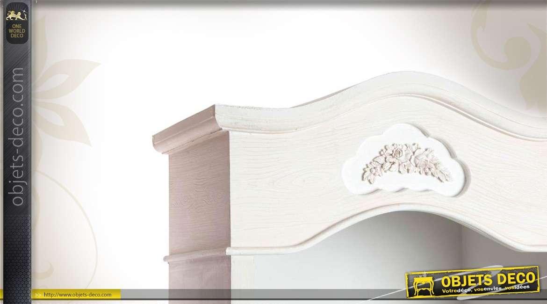 biblioth que romantique blanche en bois. Black Bedroom Furniture Sets. Home Design Ideas
