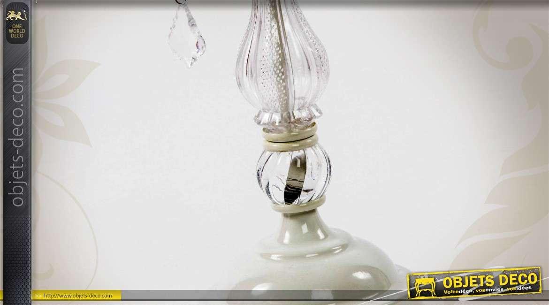Lampe À 5 58 Coloris Chandelier Crème Cm Feux Pampilles CxedBo