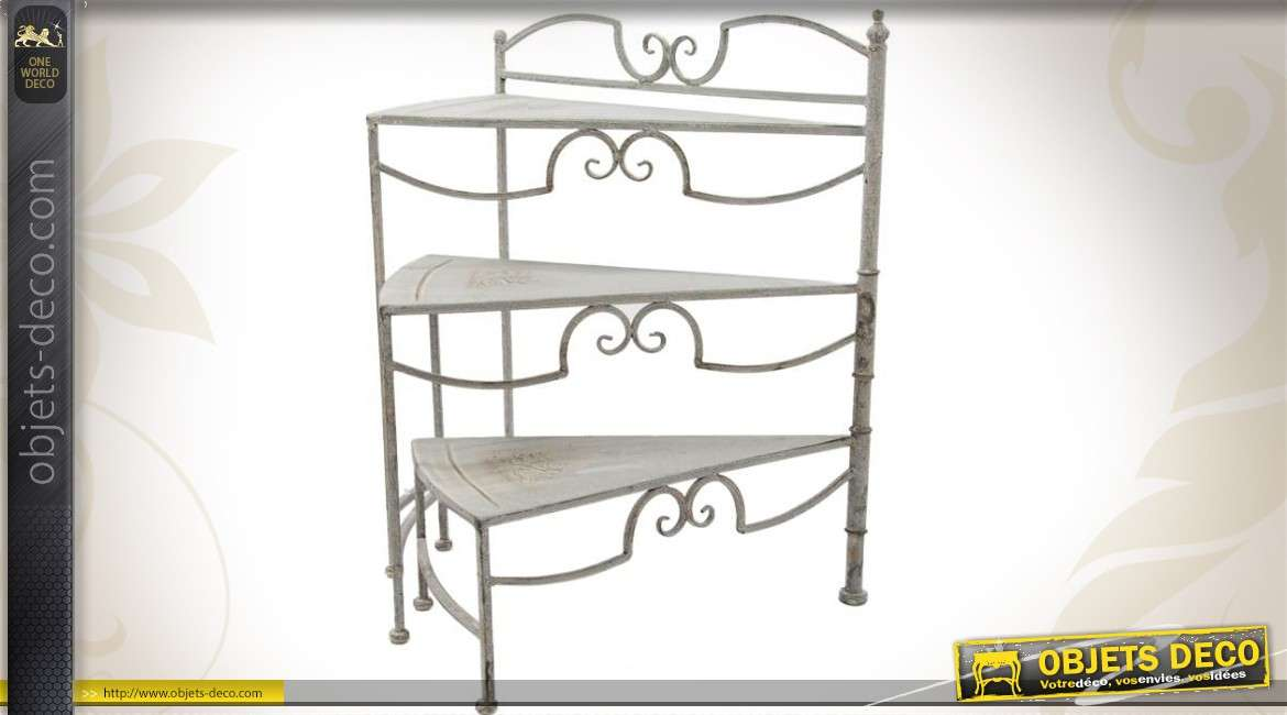 etag re escalier porte plantes coloris gris antique. Black Bedroom Furniture Sets. Home Design Ideas