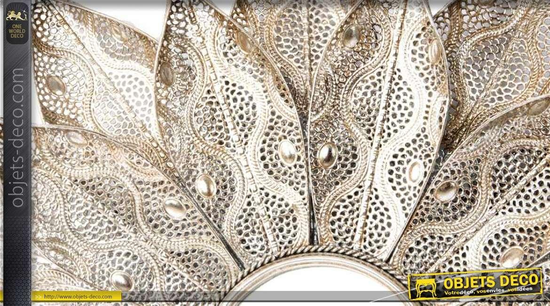 Fleur miroir oriental p tales en m tal cisel et ajour for Miroirs grandes dimensions