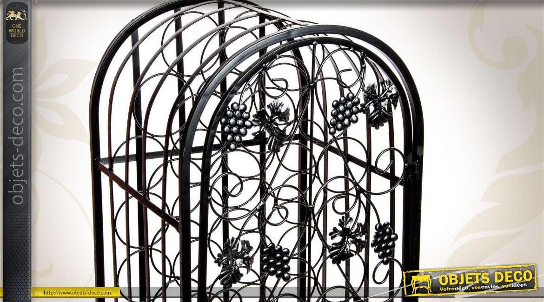 cave vin style fer forg avec porte. Black Bedroom Furniture Sets. Home Design Ideas