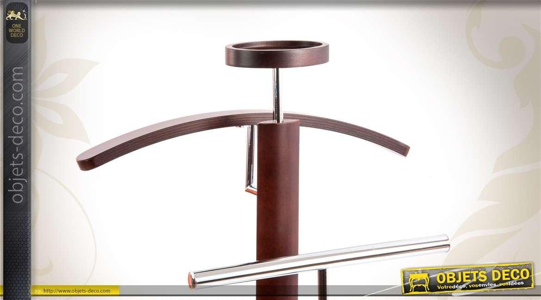 Valet de chambre design en bois et métal