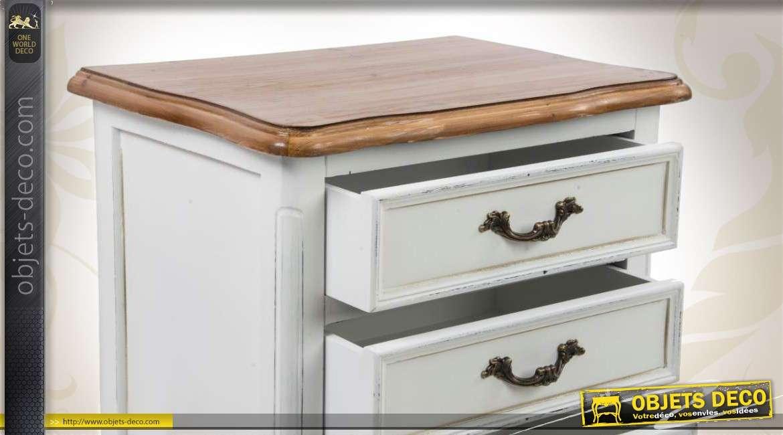 table de chevet en bois de style classique 3 tiroirs