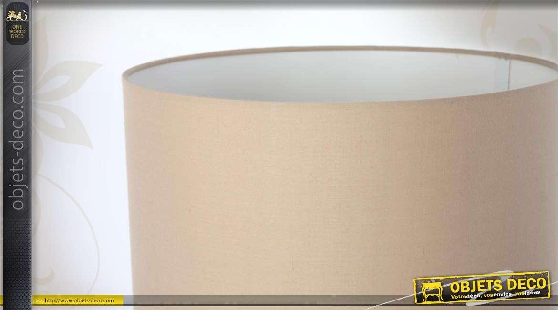 lampe de table en c ramique et abat jour beige. Black Bedroom Furniture Sets. Home Design Ideas