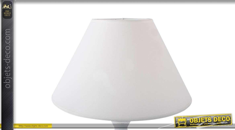 lampe de table blanche en bois. Black Bedroom Furniture Sets. Home Design Ideas