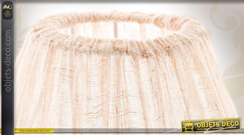 lampe de table blanche de style romantique avec abat jour tissu. Black Bedroom Furniture Sets. Home Design Ideas