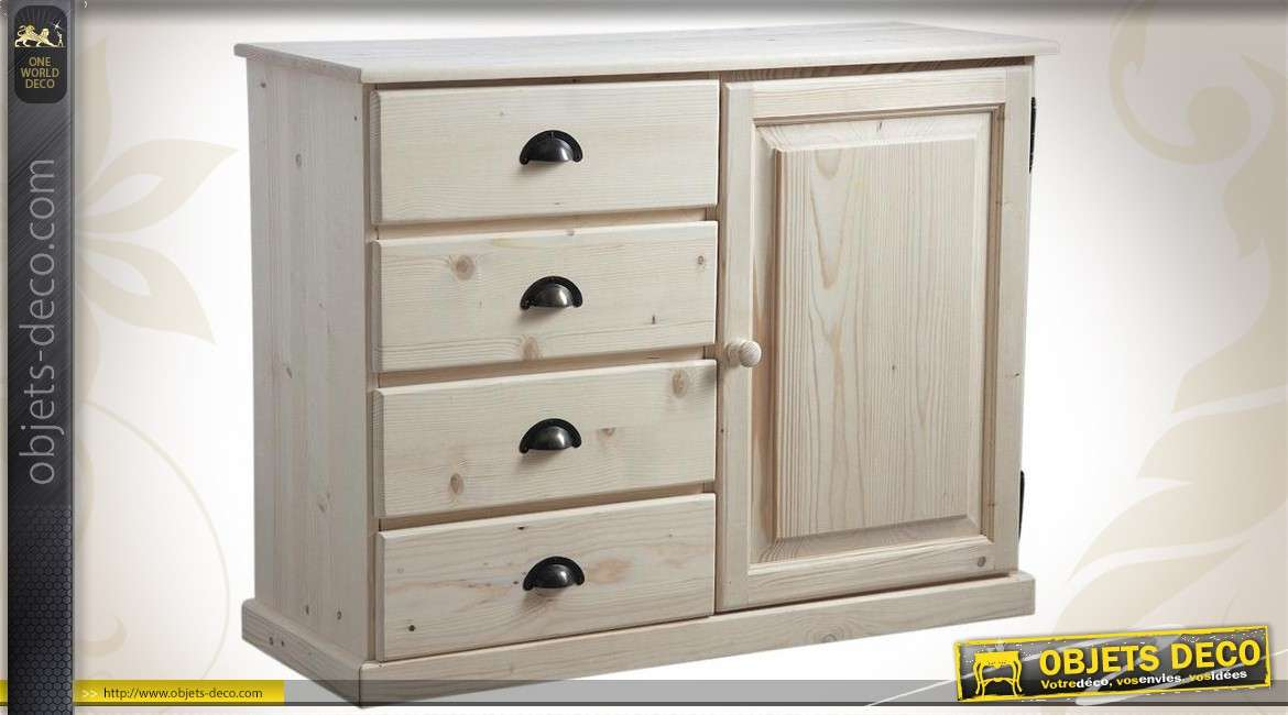 buffet en bois massif finition brut pr t peindre. Black Bedroom Furniture Sets. Home Design Ideas