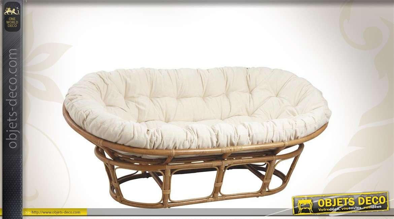 canap papasan en rotin. Black Bedroom Furniture Sets. Home Design Ideas