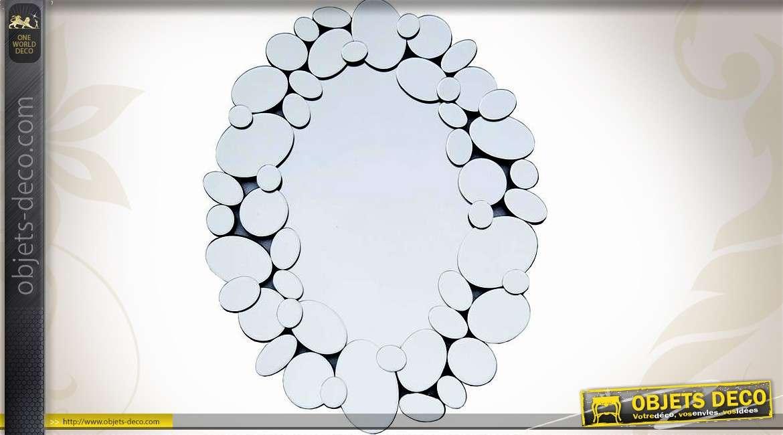 Miroir mural multifacettes abstrait formes rondes et ovales for Decoration murale miroir
