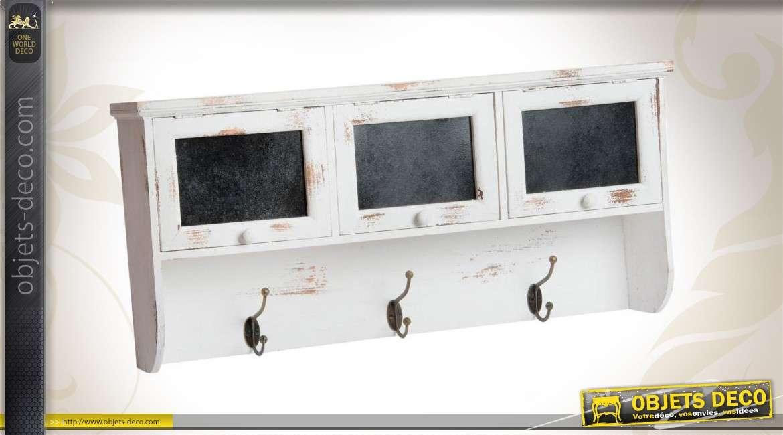 porte manteaux mural en bois avec casiers de rangement. Black Bedroom Furniture Sets. Home Design Ideas