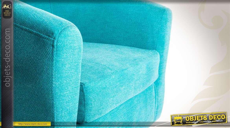 fauteuil cabriolet en tissu coloris turquoise. Black Bedroom Furniture Sets. Home Design Ideas