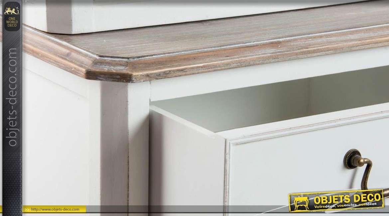 buffet de cuisine en bois coloris blanc. Black Bedroom Furniture Sets. Home Design Ideas