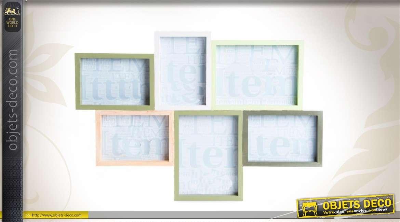 cadres photos en p le m le coloris vari s. Black Bedroom Furniture Sets. Home Design Ideas